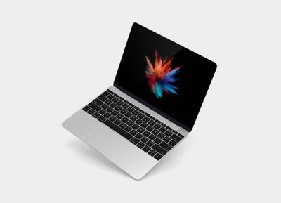10个不同角度的MacBook样机模型psd源文件