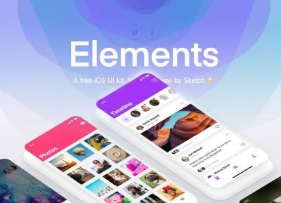 强烈推荐:sketch官方UI素材包 Elements下载