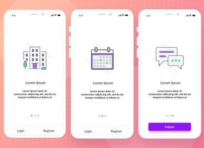 一组插画类App引导页界面设计欣赏