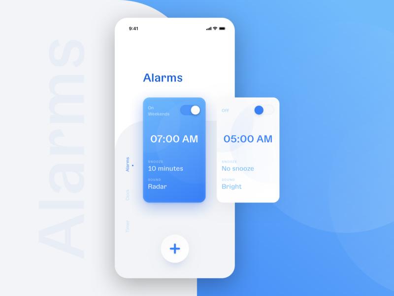 超赞的闹钟App UI界面设计(1)