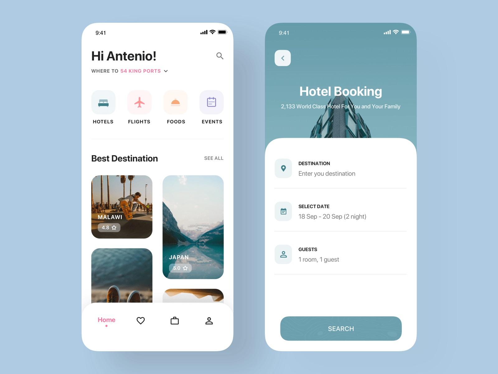 一组旅游产品APP UI界面设计欣赏(5)