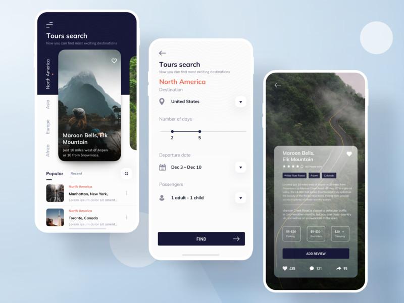 一组旅游产品APP UI界面设计欣赏(1)