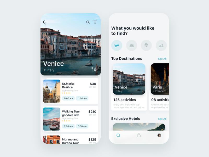 一组旅游产品APP UI界面设计欣赏(2)