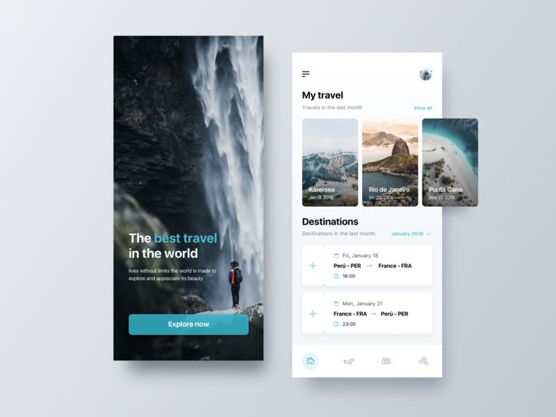 一组旅游产品APP UI界面设计欣赏(8)