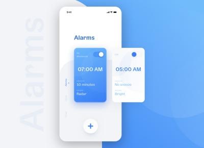 超赞的闹钟App UI界面设计